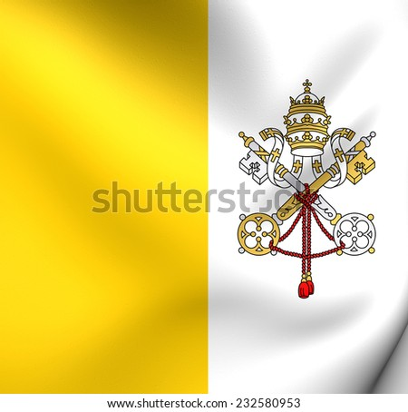 Flag of Vatican. Close Up. - stock photo