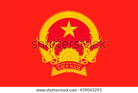 Flag of Vietnam officially the Socialist Republic of Vietnam is the easternmost country on the Indochina Peninsula in Southeast Asia.  - stock photo