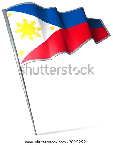 Flag pin - Philippines - stock photo