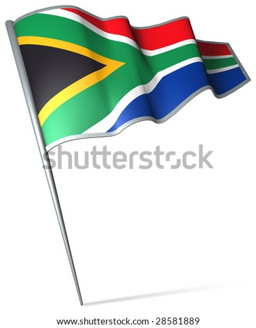 Flag pin - South Africa - stock photo