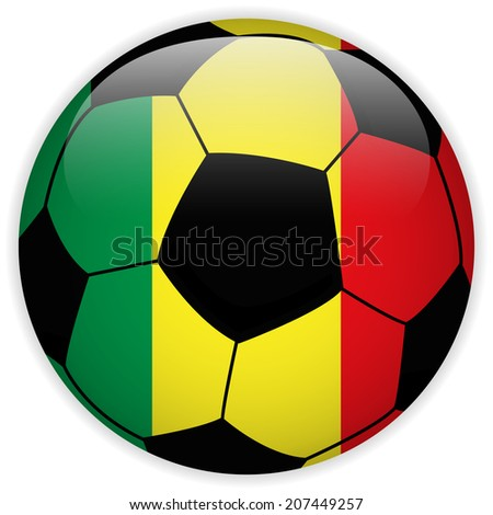Flag with Soccer Ball Background - stock photo