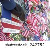 Flags at Shanksville crash site. - stock photo