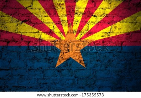 Flags from the states of the  USA ; the flag of Arizona  - stock photo