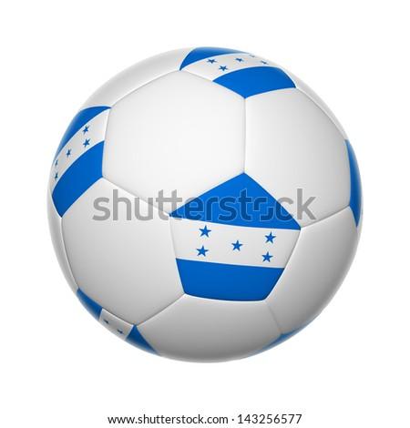 Flags on soccer ball of Honduras - stock photo