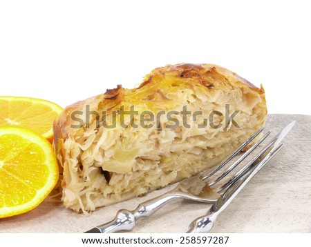 flaky pastry - stock photo