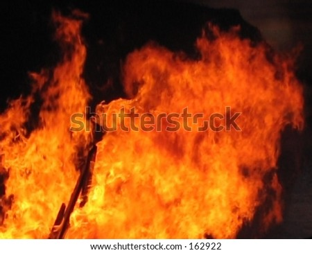 Flame 3 - stock photo