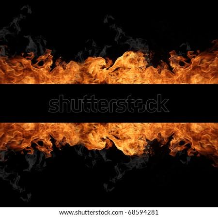 Flame stripe - stock photo