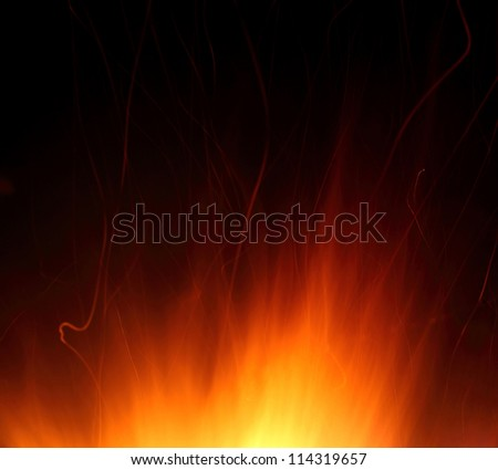 Flames - stock photo