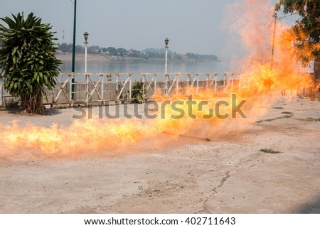 Flames from gas - stock photo