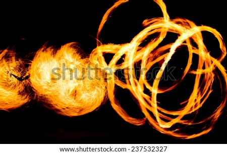 Flaming Trails Gasoline Dance  - stock photo