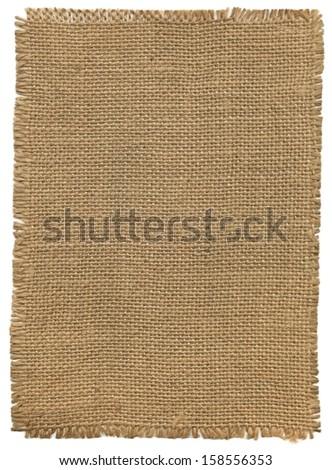Flap burlap, background - stock photo