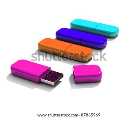 flash drive - stock photo
