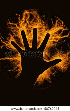Flash Hand - stock photo