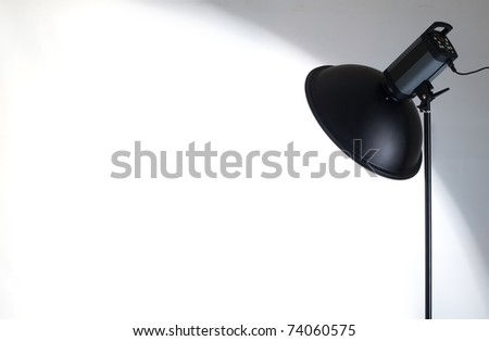 Flash-lamp as background - stock photo