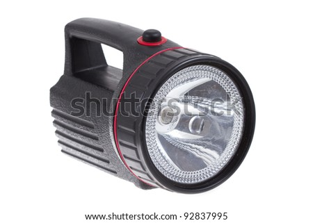 Flash Light  isolated on white - stock photo