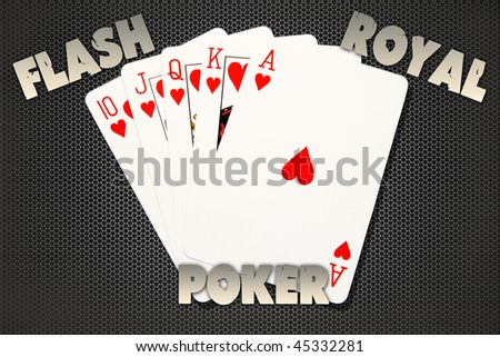 Flash Royal Poker - stock photo