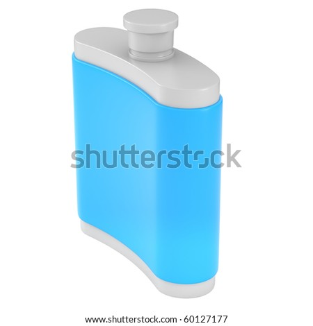 Flask isolated on white - stock photo