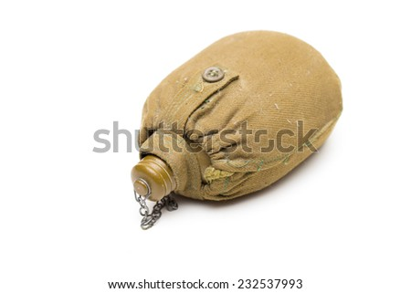 flask on the white background - stock photo