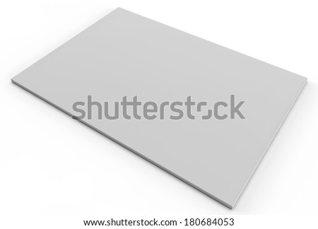 flat a4 or letter size on white background - stock photo