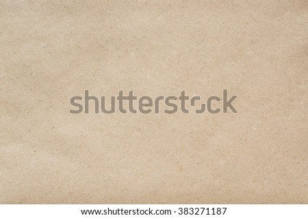 Flat craft eco paper background texture. Space for text, lettering, copy. - stock photo