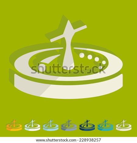 Flat design: roulette - stock photo