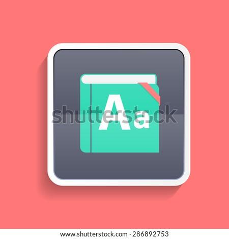 Flat Dictionary Icon   Illustration. - stock photo