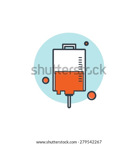 Flat medical background. Health care and first aid, medical research and blood donation. - stock photo
