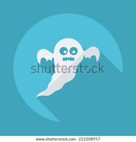 Flat modern design with shadow icons for web design and mobile applications, SEO. search Engine Optimization: halloween - stock photo