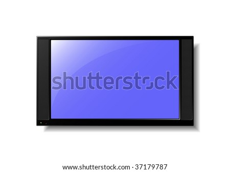 Flat Screen TV - stock photo