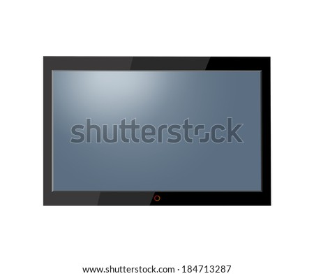 Flat screen tv lcd, plasma - stock photo