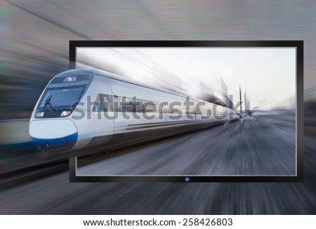 Flat screen tv - the actual image - stock photo
