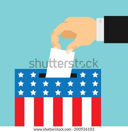 flat style illustration of election day  - stock photo