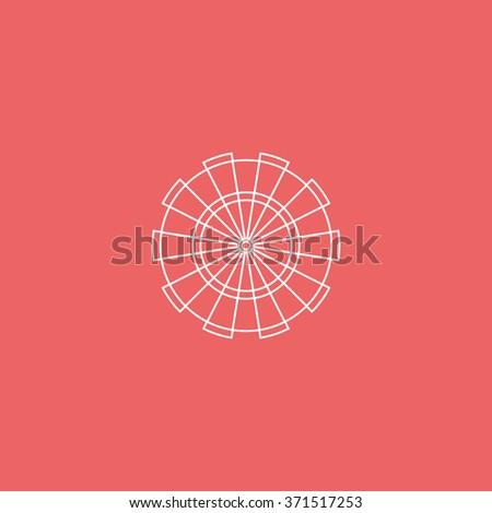 Flat target for darts. - stock photo