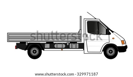 flatbed truck  - stock photo