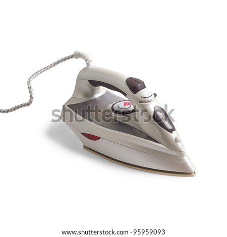flatiron gray iron isolated on white background - stock photo
