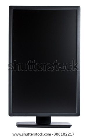Flatscreen computer display in portrait orientation isolated - stock photo