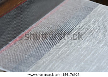 Flax loom - stock photo