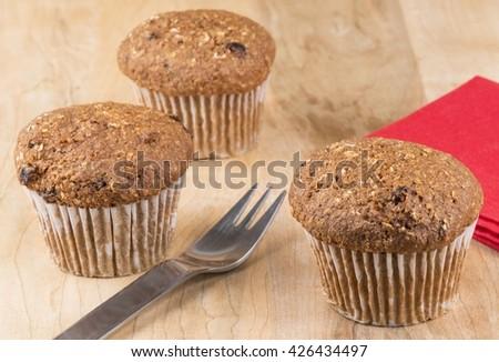 Flax muffins - stock photo