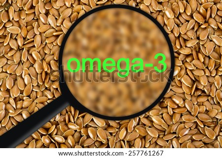Flax seed and omega-3 concept - stock photo