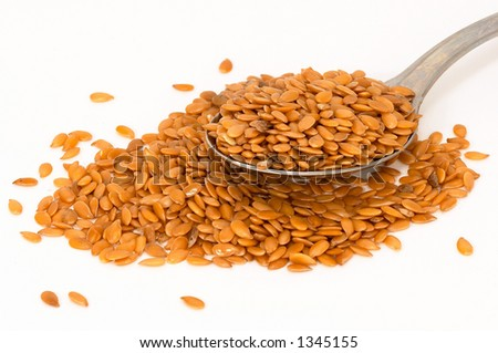 Flax seed is also known as Linseed. Flaxseed oil is contains alpha-linolenic acid. Flaxseed itself also contains lignans. - stock photo