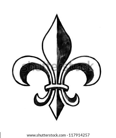 Fleur De Li (Hand Drawn) - stock photo