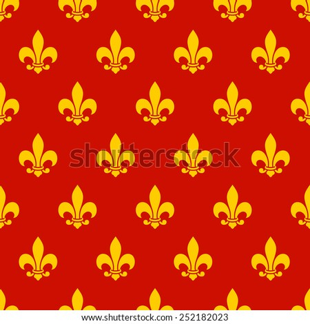 Fleur de lys seamless pattern. Endless background - stock photo