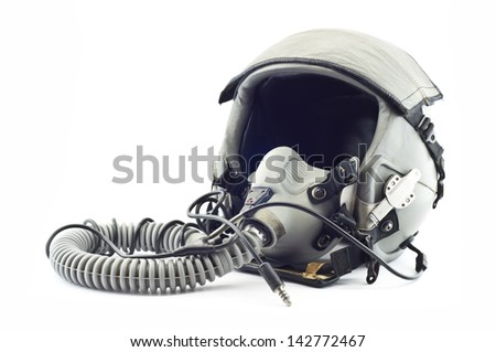 Flight helmet isolated. - stock photo