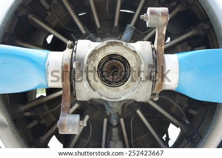flight old engine - stock photo