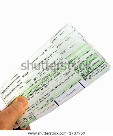 Flight Ticket - stock photo