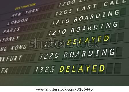 Flights Delayed - stock photo