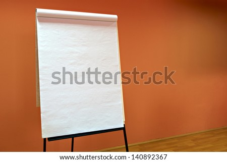Flip chart - stock photo