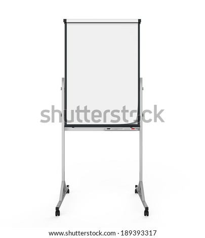 Flip Chart Paper and Board - stock photo