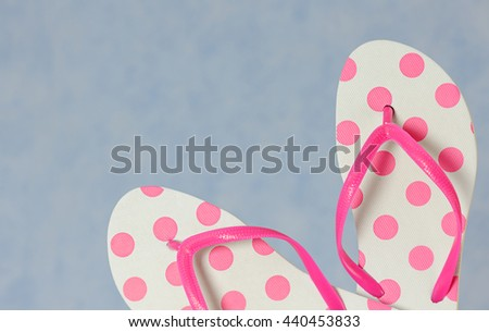 flip flops close up - stock photo