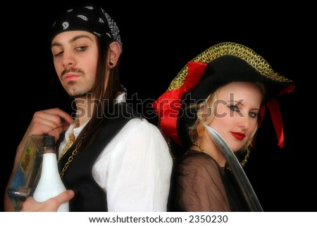 Flirty Pirates 2 - stock photo